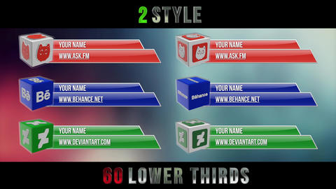 Social Media 3D Lower Thirds Pack Premiere Pro Template