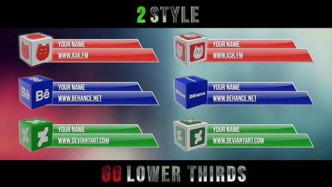 Social Media 3D Lower Thirds Pack Premiere Proテンプレート