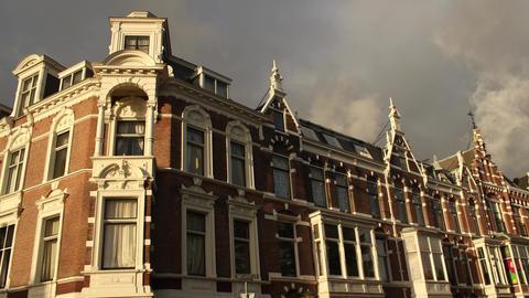 Dutch Red-Brick Building 19th century, Sweelinckplein, Den Haag Footage