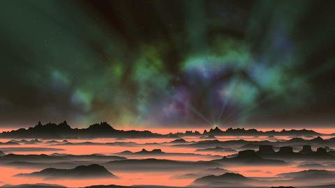 Shining Star and Beautiful Nebula GIF
