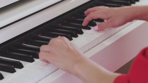 woman hands playing the piano, Live Action