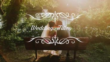 Wedding Titles Premiere Pro Template