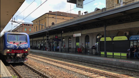 Bologna, Italy train station day view GIF