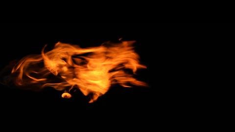 Raging fire in slow motion. 15s ビデオ
