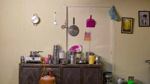 Home kitchen interior, kitchen accessories Live Action