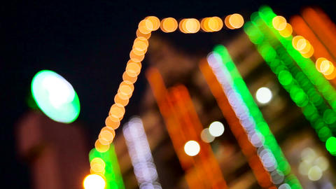de-focused and blurred lights, Christmas and Happy New Year defocused abstract Footage