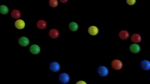 Balls on Black Moving Footage