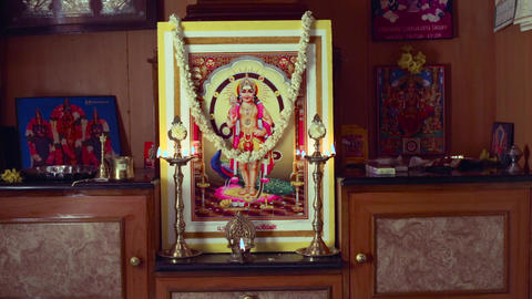 pooja room with oil lamp, house interior pooja room decoration designs Live Action