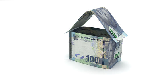 Real Estate with South African Rand Animation