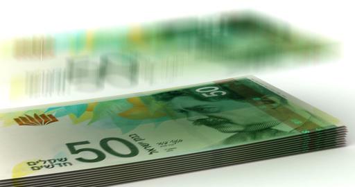 Money Fall New Israeli Shekel Animation