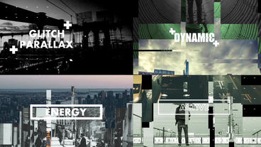 Glitch Parallax After Effects Template