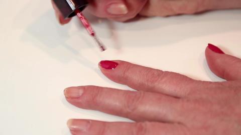 Manicure treatment in beauty salon Live Action