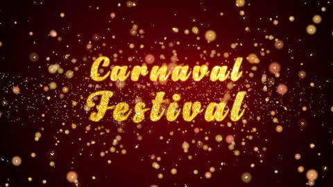 Carnaval Festival Greeting card text shiny particles for celebration,festival Animation