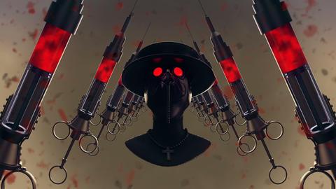 Plague Doctor Mask VJ Loop Animation