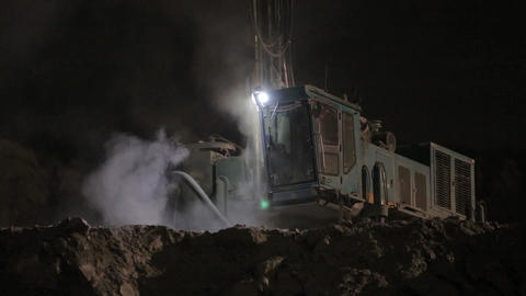 Night work at the quarry 01 Footage