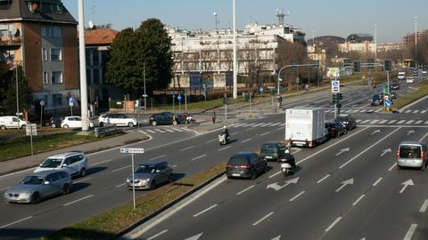 Light traffic in Milan Live Action