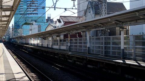 Odakyu romance car passes Minami-Shinjuku station Footage