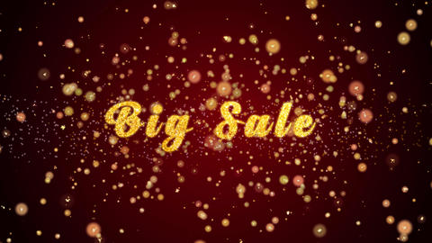Big Sale Greeting card text shiny particles for celebration,festival Animation