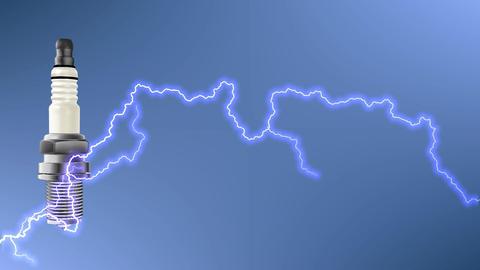Spark plug electricity ignition plug Footage