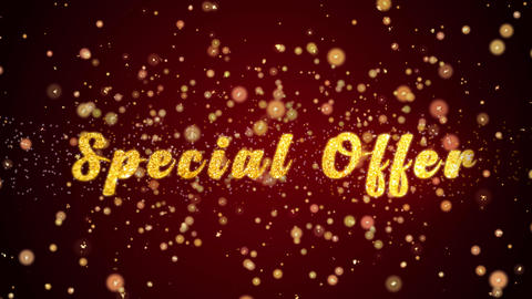 Special Offer Greeting card text shiny particles for celebration,festival Animation
