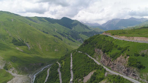 Serpentine Roads In The Mountains Footage