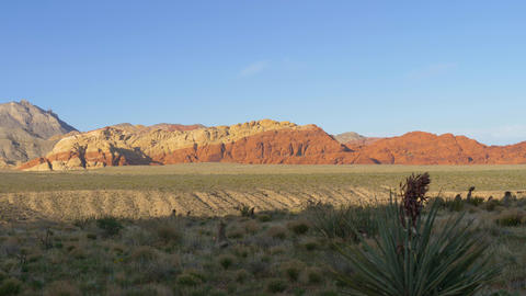 Red Rock Canyon Las Vegas Nevada, Panorama view Live Action