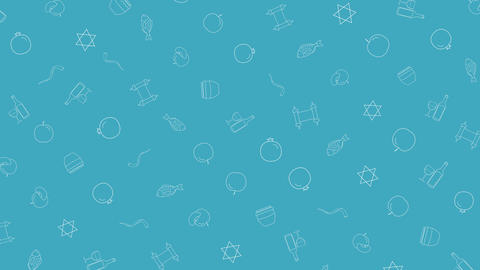 Rosh Hashanah holiday flat design animation background... Stock Video Footage