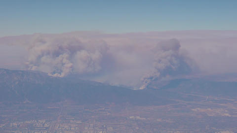 Fires in the mountains surrounding Los Angeles GIF
