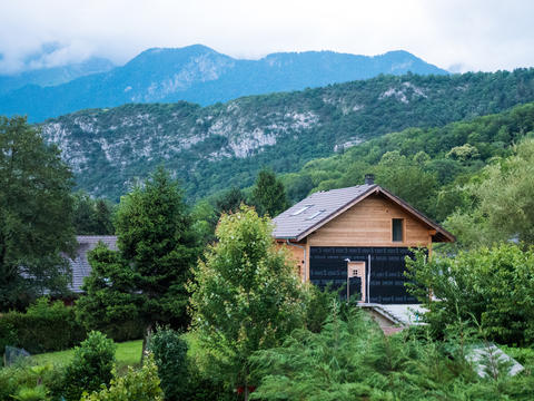 modern and ecological house located in the surroundings of Annecy France Photo