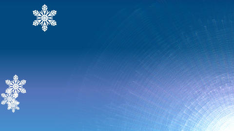 Blue winter background with snowflakes and ice structure…, Stock Animation