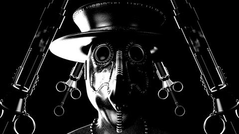 Blinking Plague Doctor VJ Loop GIF