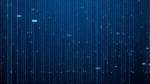 Digital Matrix Code Background HD Stock Video Footage