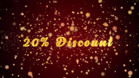 20% Discount Greeting card text shiny particles for celebration,festival Animación