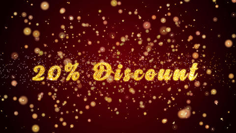 20% Discount Greeting card text shiny particles for… Stock Video Footage