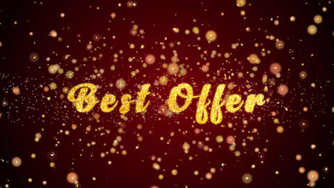 Best Offer Greeting card text shiny particles for celebration,festival Animación