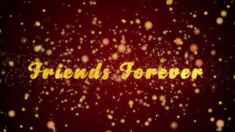 Friends Forever Greeting card text shiny particles for celebration,festival Animación
