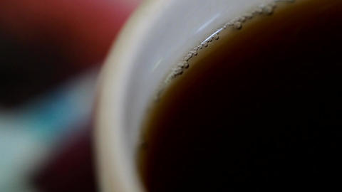 A fragrant drink from coffee in a mug Footage
