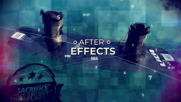 Cinematic Digital Slideshow Plantilla de After Effects