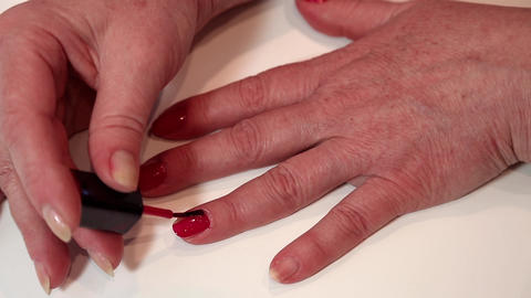 Manicure treatment in beauty salon Footage