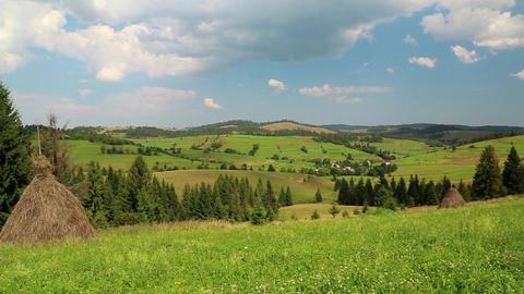 Beautiful green hills Footage