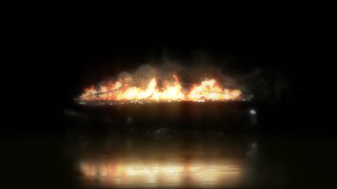 Human Sacrifice Burning on a Stone Alter Archivo