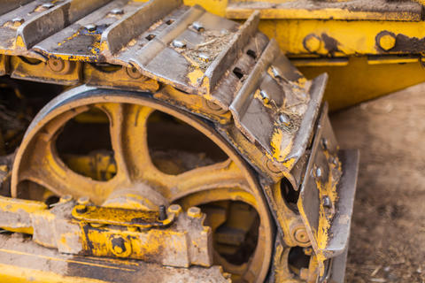 Caterpillars of heavy construction equipment Photo