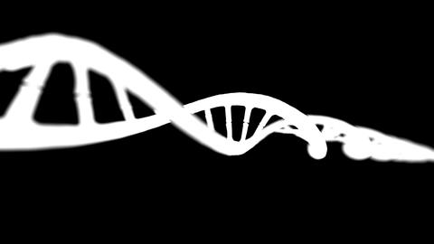 DNA LOOP 4K v4 BW Animation