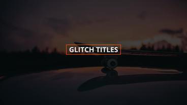 Glitch Titles & Logo Premiere Pro Template