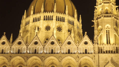 Hungarian Parliament in Budapest20180620230018 Footage