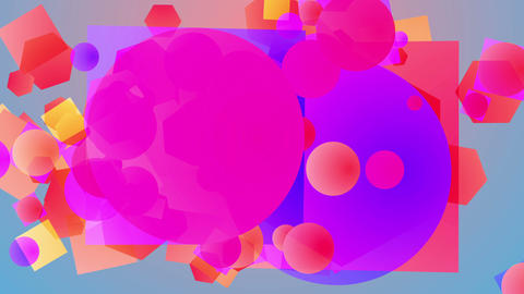 Abstract colorful background and colored balls Animation