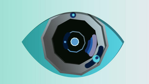Abstract octagonal eye in the celeste background Animation