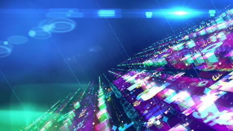 Hi-tech colorful space design structure Animation