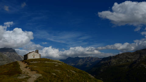 Ceresole (Torino), Italy - Sectember 5, 2012: glimpse of the national park of the grand paradise Footage