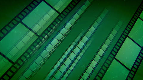 Green Film Tape Placed Aslant Move Animation